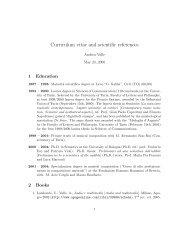 Curriculum vitae and scientific references - CIRMA