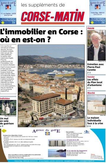L'immobilier en Corse : où en est-on ?