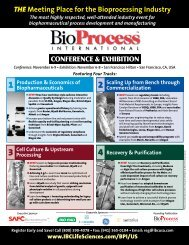 THE Meeting Place for the Bioprocessing Industry - IBC Life Sciences