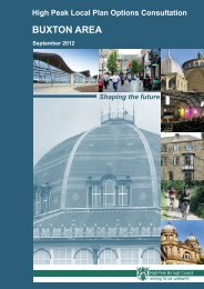 High Peak Local Plan Options Consultation - Buxton