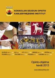 Opinto-ohjelma kevät 2013 - Kokkola