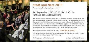 Stadt und Netz 2013 - City & Bits
