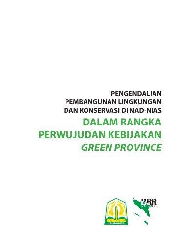 dalam rangka perwujudan kebijakan green province - UNDP