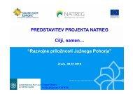 Predstavitev projekta NATREG - Zavod RS za varstvo narave
