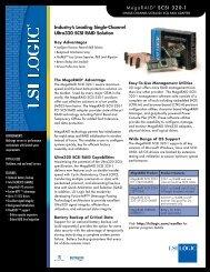 MegaRAID® SCSI 320-1 - TelcoMachine