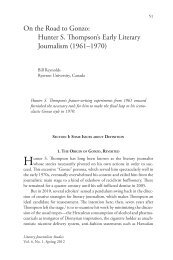 On the Road to Gonzo: Hunter S. Thompson's Early Literary ... - ialjs