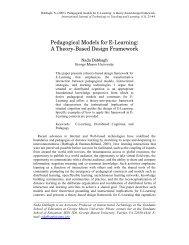 Pedagogical Models for E-Learning: A Theory ... - learningdomain