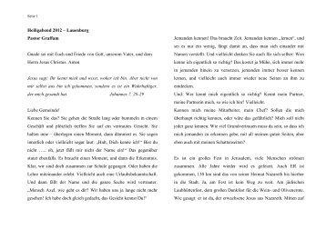 Predigt vom 24.12.2012 - ev. Kirche in Lauenburg