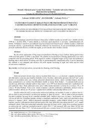 využití bezvýlomové trhací práce při protiotřesové prevenci v ...
