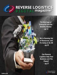 Edition 48 - Reverse Logistics Magazine