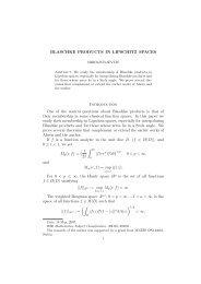 BLASCHKE PRODUCTS IN LIPSCHITZ SPACES ... - Ncd.matf.bg.ac.rs