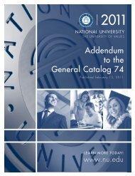 Catalog 74 Addendum A - National University