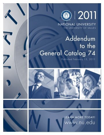 Catalog 74 Addendum A - National University