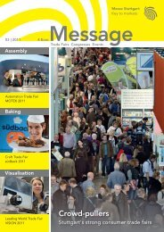 Message issue 3/2011 - Messe Stuttgart