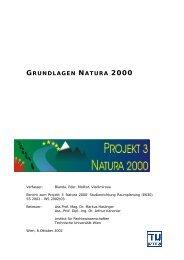 grundlagen natura 2000 - Fachbereich Rechtswissenschaften ...