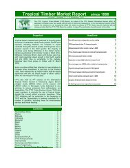 Tropical Timber Market Report since 1990 - Life Forestry Group