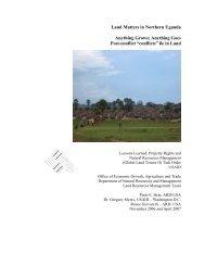 Land Matters in Northern Uganda - Land Tenure and Property ...