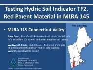 Evaluating the TF2 Hydric Soil Indicator for Red Parent ... - NeSoil