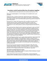 Inventory control partnership ties all systems together