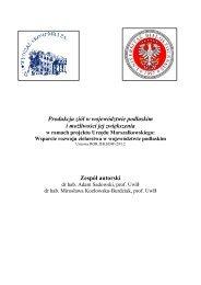 Produkcja ziół w województwie podlaskim i ... - podlaskie - KSOW