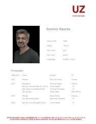 Dominic Raacke - ARTIST NETWORK