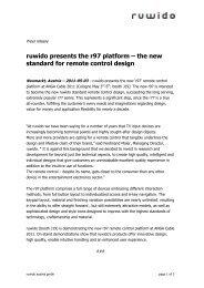 ruwido presents the r97 platform – the new standard ... - ANGA COM
