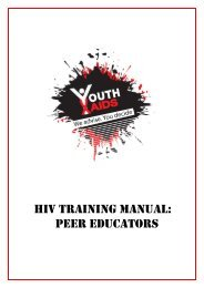 HIV TraInIng Manual - CONCURRENT SEXUAL PARTNERSHIPS ...