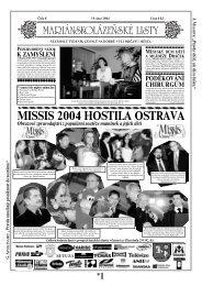 MISSIS 2004 HOSTILA OSTRAVA - Mariánskolázeňské listy