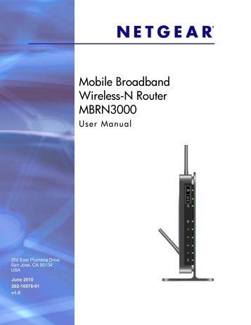 Netgear 3g Router Mbrn3000 Manual