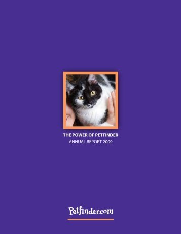 Download the 2009 Petfinder Annual Report
