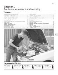 Chapter 1 Routine maintenance and servicing
