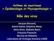 Rôle des virus - Société pédiatrique de pneumologie et d ...