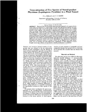 Cross-attraction of Five Species of Stored-product Phycitinae ...