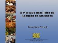 O Mercado Brasileiro de Redução de Emissões O Mercado ...
