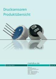 Drucksensoren-Übersicht. - Metallux AG