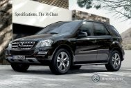 Specifications. The M-Class - Mercedes-Benz  South Africa