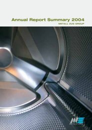 Download the annual report summary - Metall Zug