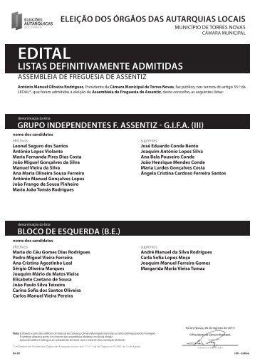 Listas - Câmara Municipal de Torres Novas