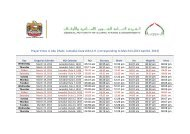 Prayer times in Abu Dhabi- Jumadial-Oula1434 A.H. (corresponding ...