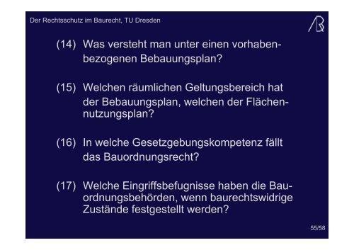 Klage auf Erteilung einer Baugenehmigung - Prof-rauch-tu-dresden.de
