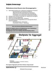 Merkblatt Stellplatz Stromerzeuger