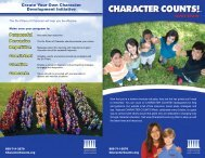 CC! overview brochure - Character Counts
