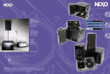 NEXO PS Brochure 2.69MB - Yamaha Commercial Audio