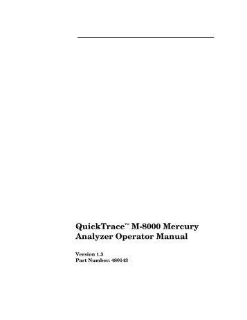 M-8000 Operator's Manual - CETAC Technologies