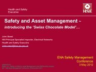 Safety and Asset Management ~ - Energy Networks Association