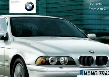 BMW 2003 5 Series Owners Manual - edsoto.com