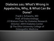 CONTROL DIABETES GROUP - Diabetes: A Family Matter