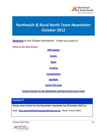 NRN News October 2012 - West Cheshire Together