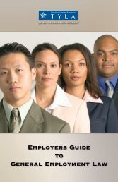 Employers Guide to General Employment Law - State Bar of Texas