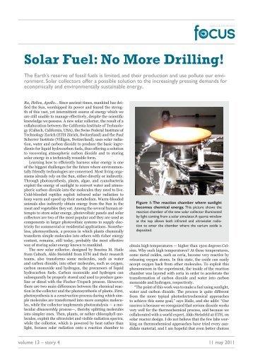 Solar Fuel: No More Drilling! - Optics & Photonics Focus